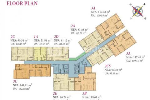 Bán giá gốc căn hộ 2pn tại dự án Đảo Kim Cương, tháp Bora, view sông, tầng 2X.