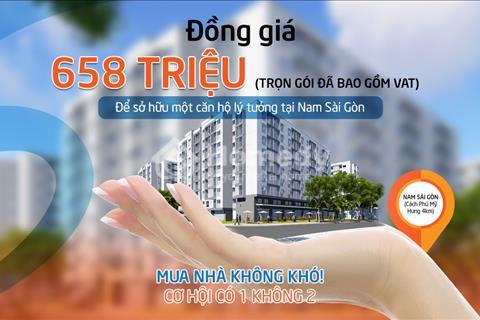 Sở hữu căn hộ Ehome S chỉ với giá 650tr nhận căn hộ 2pn. Thanh toán chỉ 200tr nhận nhà