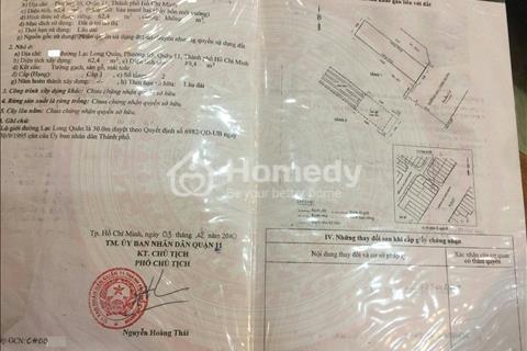 Bán nhà mặt tiền đường Lạc Long Quân, Quận 11, 4x15.6m, trệt, lầu, giá 9,1 tỷ - Tuấn chính chủ