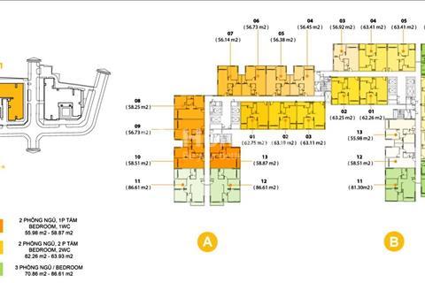 Bán căn hộ M-One 2 phòng ngủ, diện tích 58m2, giá tốt nhất thị trường