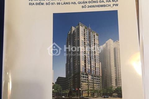 Bán 25 suất ngoại giao chung cư 97 - 99 Láng Hạ, Vinaconex, DT: 75m2 - 169m2