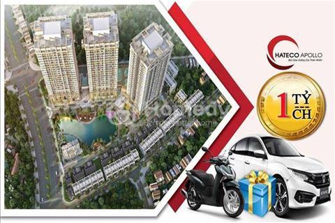 1,1 tỷ sở hữu ngay căn hộ full nội thất cao cấp, view hồ điều hòa 3000m2 tại Hateco Xuân Phương