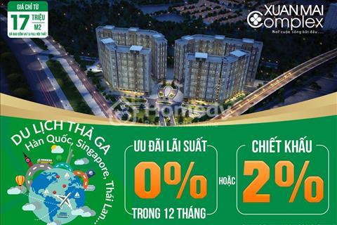 Bán căn hộ 62 m2, ban công hướng Đông Nam dự án Xuân Mai Complex