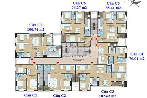 Dream Center Home bán căn hộ 104,61m2, tầng 11, cửa Đông Nam, 2 ban công, giá chỉ 2,3 tỷ