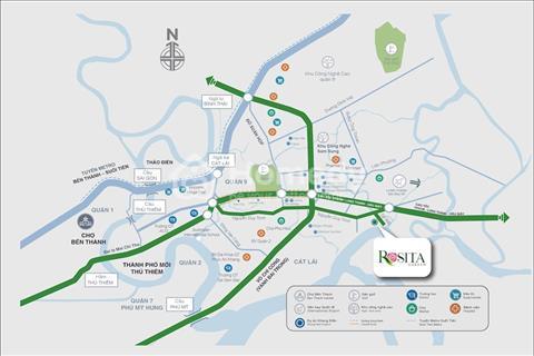 CH Vàng cho nhà đầu tư nhà phố LK Rosita Khang Điền Garden Quận 9-giá từ 3,4tỷ/căn(VAT), Ck đến 18%