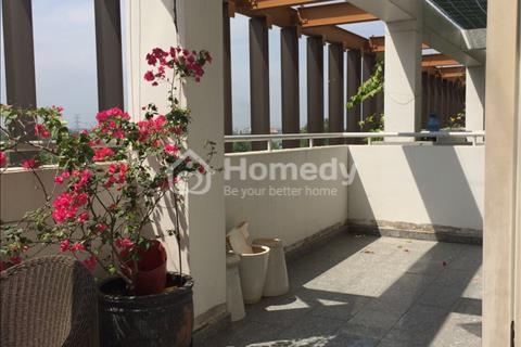 Cho thuê căn hộ cao cấp Dragon Hill có sân vườn, 2 phòng ngủ, full đồ, 86m2 + 30m2, 650 USD/tháng