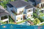 Mẫu Melody Villas có diện tích 300 m2 – 405,5 m2 được thiết kế gồm 2 tầng, 3 phòng ngủ, 4 phòng vệ sinh, 1 bể bơi riêng ngoài trời. Biệt thự hoàn thiện đầy đủ nội thất với tiêu chuẩn 5 sao, bao gồm cả phòng khách, bếp, phòng ăn.