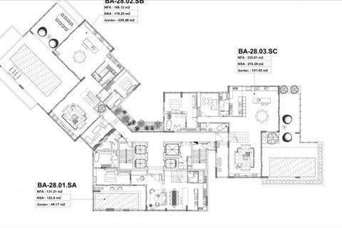 """Sky villa Đảo Kim Cương– """"biệt thự trên không"""" bán 277 m2 tầng 28-29 5 phòng ngủ"""
