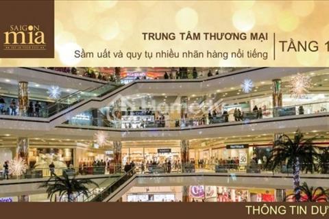 Hưng Thịnh mở bán shop dự án sài gòn mia,mặt tiền đường 9a dài 120m.thiết kế kiến trúc pháp cực đẹp