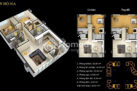 Bán căn hộ Imperia An Phú 2 phòng ngủ, 95m2 giá 3,8 tỷ