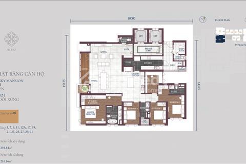 Bán lỗ 50tr gấp căn Feliz tòa Altaz Sky Mansion 4PN rẻ hơn CĐT 400tr có thang máy riêng