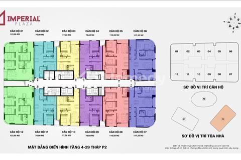 Cần tiền để lại gấp căn góc 3 phòng ngủ cực đẹp 1606 tòa IP2 dự án 360 Giải Phóng