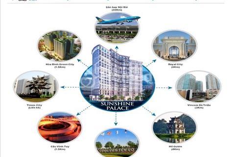 Bán Chung Cư Sunshine Palace Ngõ 13 Lĩnh Nam, Cạnh TimeCity giảm 150tr-chiết khấu 2%, vay 0% 10 th