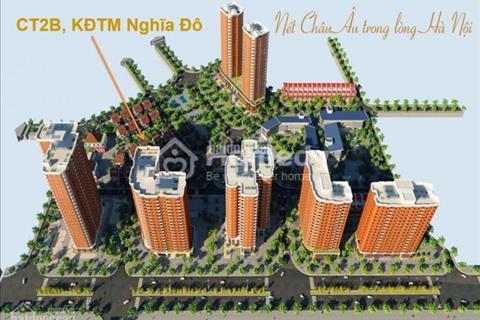 Bán căn thô 80m2(3 ngủ) - chung cư Nghĩa Đô - ban công hướng Nam
