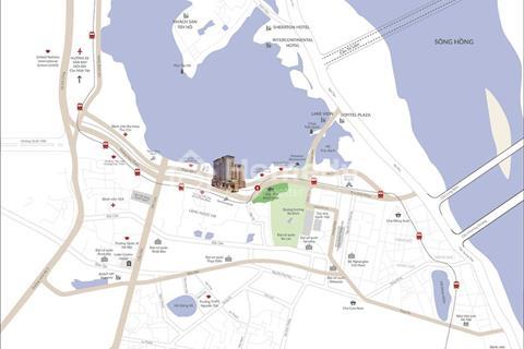 Bán gấp căn hộ Sun Grand City Thụy Khuê - 1 phòng ngủ, 57m2, view hồ, hướng Đông Nam