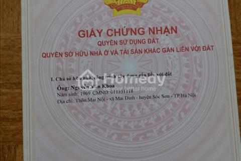 Bán đất xã Mai Đình, Sóc Sơn, diện tích 190m2, mặt tiền 9m, 665 triệu