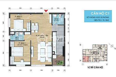 Cắt lỗ bán gấp căn hộ 82,42m2 dự án 282 Nguyễn Huy Tưởng - nhận nhà vào ở luôn
