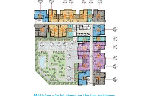 Bán căn 3 ngủ 111m2 - tòa The Two - khu đô thị Gamuda Garden view bể bơi, khu đô thị