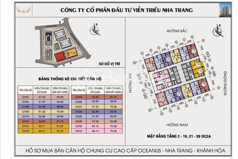 Chính chủ cần bán gấp 2 căn giá rẻ hơn thị trường dự án Mường Thanh Viễn Triều Nha Trang