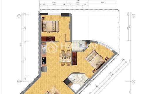 Bán căn hộ 63m2 (2 ngủ vs 2 WC)- Tầng đẹp- view hồ điều hòa - khu đô thị Nghĩa Đô