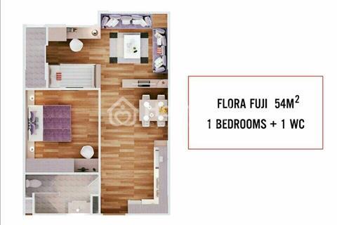 Chính chủ bán căn hộ 2pn Flora Fuji Nam Long giá 1.2 tỷ, 18/11 nhận nhà.
