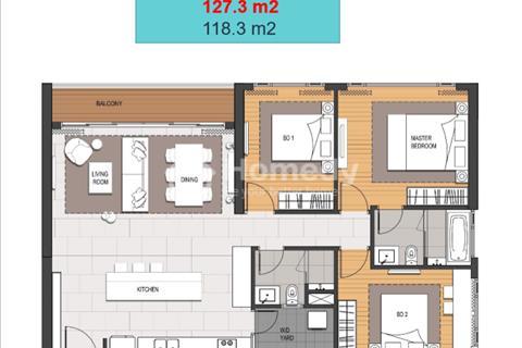 Bán căn hộ 3 phòng ngủ diện tích 127m2, thuộc dự án Empire City Thủ Thiêm