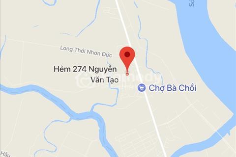 Bán nhanh 80m2 đất thổ cư, ngay KDC 274 Nguyễn Văn Tạo, Nhà Bè, giá 1,496 tỷ