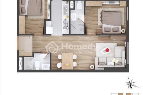 Cần bán căn hộ 2PN, diện tích 73,5m2, bàn giao nội thất cơ bản, giá 1,85 tỷ