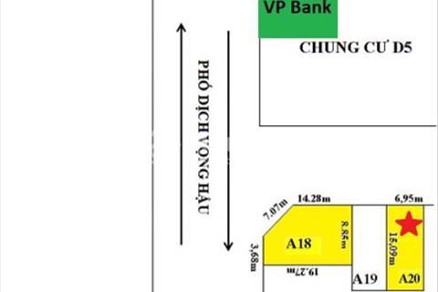 Bán lô đất A20- ô D5 sổ đỏ chính chủ giá bán 165 triệu/m2