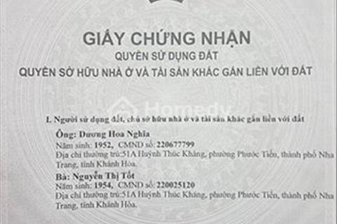 Cần tiền bán gấp nhà mặt phố trung tâm tp Nha Trang