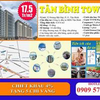 Tân Bình Tower, căn hộ sân bay Tân Sơn Nhất, 1.5 tỷ, 2 phòng ngủ, 70m2, nhận nhà ở ngay