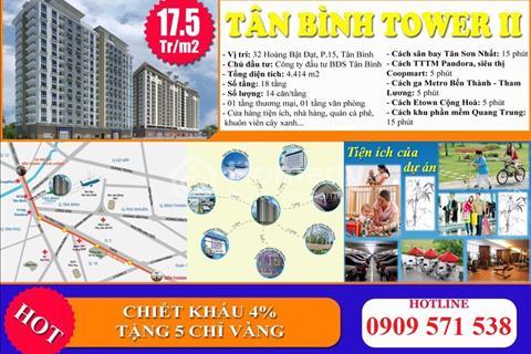 Tân Bình Tower, căn hộ sân bay TSN, 1.2 tỷ, 2pn, chiết khấu 50tr, nhận nhà ở ngay