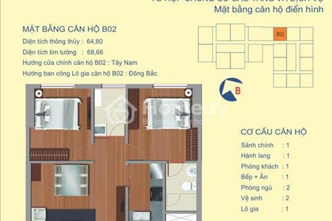 Chung cư 122 Vĩnh Tuy, 1602 tòa B, 1,66 tỷ full nội thất cần bán