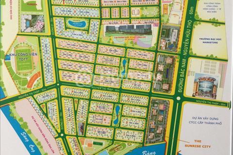 Đất Him Lam đường 12 đối đầu lưng Nguyễn Thị Thập, 10x20m, hướng Bắc, giá 83 triệu/m2