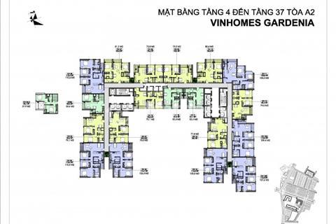 Bán cắt lỗ 2 căn 1508 (73m2) và 1511 (110,6m2) tòa A1 Vinhomes Gardenia giá 2 tỷ