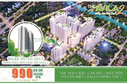 Căn hộ The Avila 2 sở hữu ngay căn hộ vàng chỉ từ 980 triệu/căn, chiết khấu ngay 400.000 đồng/m2