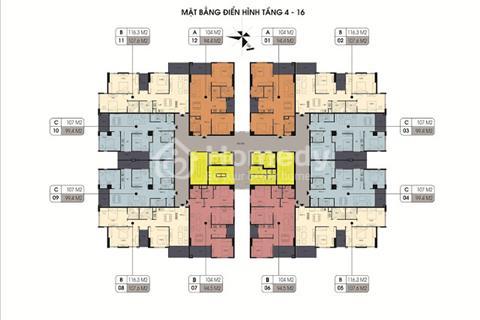 Bán căn 98 m2 tại Northern Diamond Long Biên 2tỷ692 chiết khấu 70 triệu, view sân Golf Long Biên