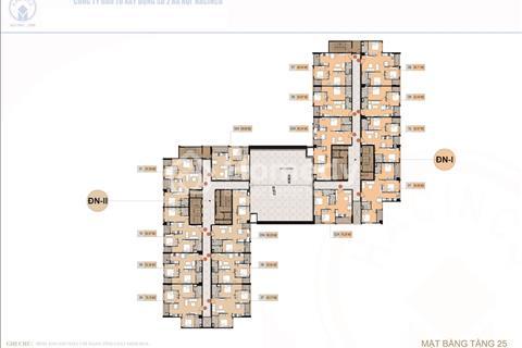Cắt lỗ căn 1504 (82.85m2) và 1208 (79.98m2) tòa DN1 Hà Nội Center Point, giá 30 triệu/m2