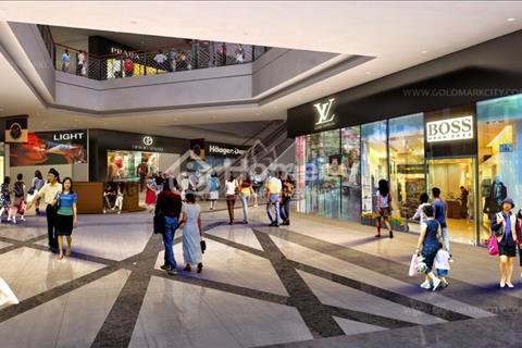 Cho thuê sàn thương mại tầng 1 tòa nhà đẹp nhất Goldmart City, 136 Hồ Tùng Mậu, 100m2 - 400m2