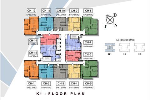 Mở bán dự án The K Park diện tích từ 53 - 93m2 giá 1,1 tỷ/căn