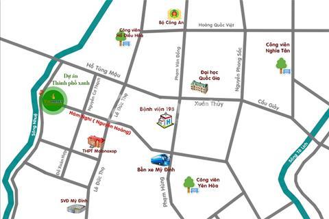 Cho thuê nhà mặt phố Vinhomes Botanica mặt phố Hàm Nghi 126m2 thô giá 25 triệu