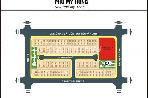 Bán lô đất góc hai mặt tiền đường lớn Phạm Thái Bường - Phú Mỹ Hưng quận 7, 217m2, giá 31.5 tỷ