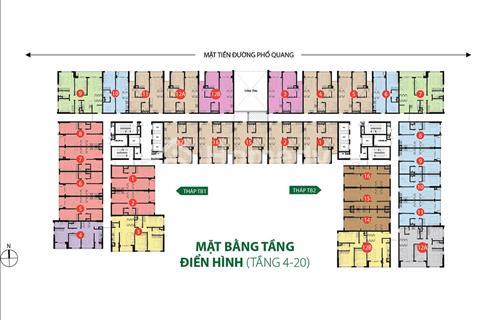 Bán căn góc 2PN, 68m2, giá 2.7 tỷ, The Botanica Phổ Quang