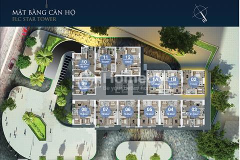 Bán gấp FLC Quang Trung căn 1608 (76m2), căn 1810 (93m2), giá 18.5 triệu/m2