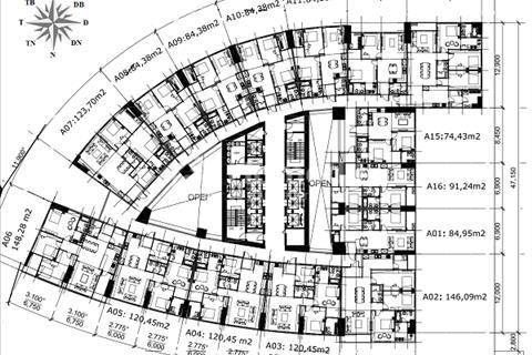 Bán gấp căn hộ Mipec Riverside, A1601 (84.95m2) và B1615 (74.43m2) giá 2 tỷ 600 triệu