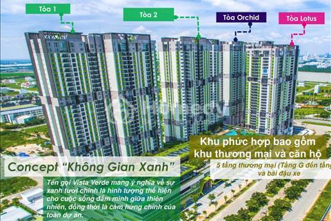 Mở bán căn hộ xanh Vista Verde đẹp nhất quận 2 chiết khấu 6% thanh toán 30% nhận nhà