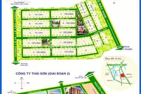 Cần bán đất nền lô O5, O6, quận 7, diện tích 250m2,  24 triệu/m2, Khu dân cư Thái Sơn 1, Nhà Bè