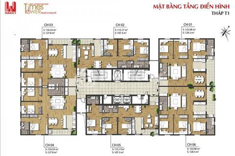 Cắt lỗ căn 2006 ( 128,3m2 ) T2 và 1503 ( 127.8m2 ) T1 Times Tower, Lê Văn Lương, giá 30 triệu/m2