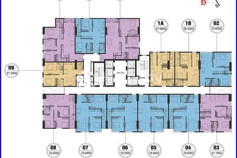 Chính chủ cần bán căn 1508, diện tích (76.02m2) giá 17 triệu/m2 ở FLC Quang Trung Star Tower