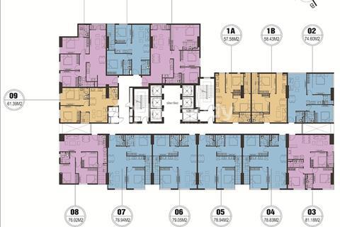 Bán chung cư FLC Star Tower, tầng 1606, diện tích 79,05m2, giá 1,5 tỷ